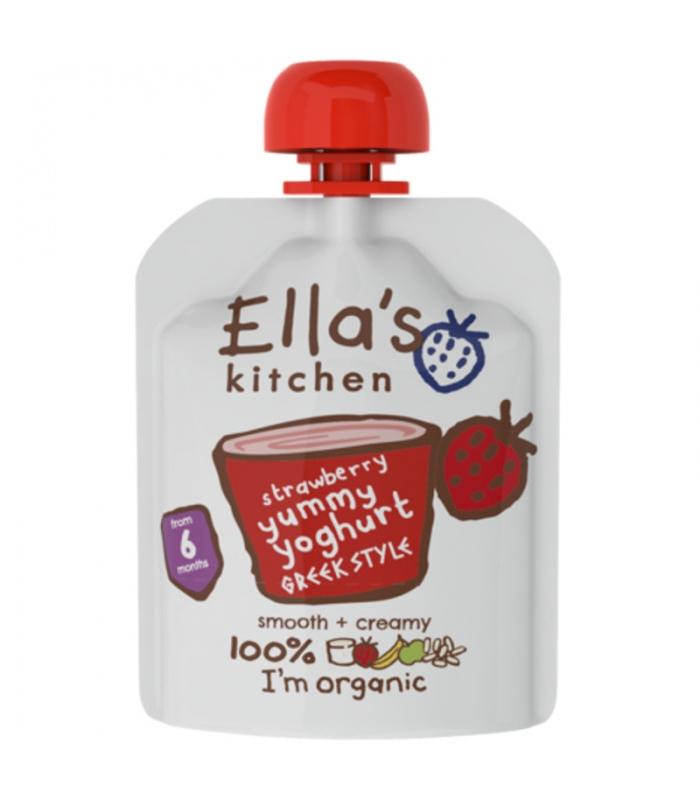 Βιολογικό Γιαούρτι Ελληνικό Φράουλα Bio 90γρ., Ella's Kitchen