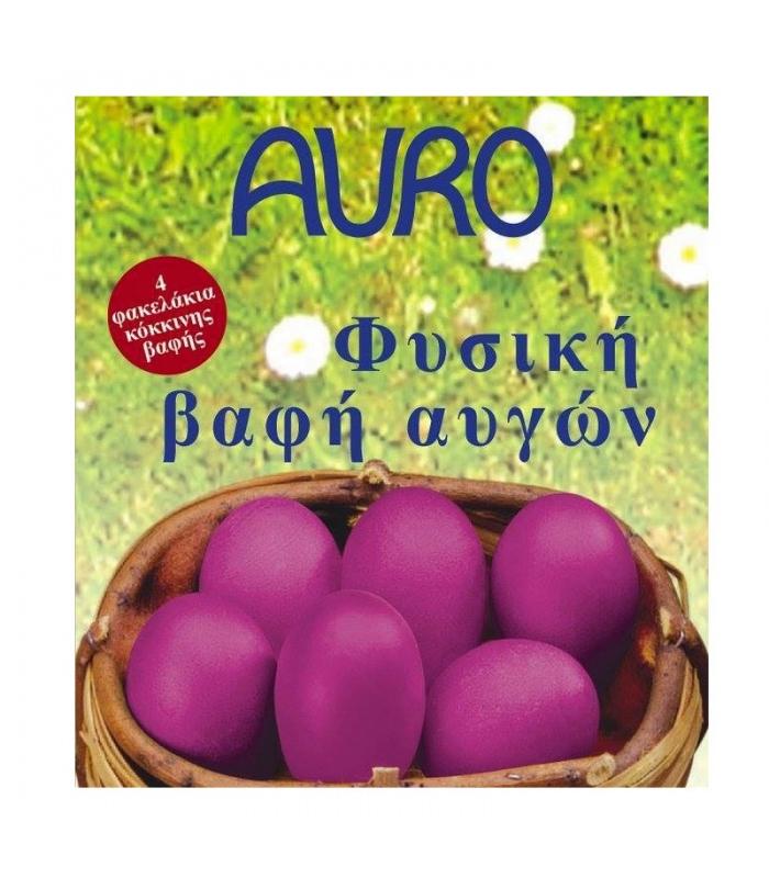 Φυσικές Βαφές Αυγών Κόκκινο 3 φακελάκια, Ελληνικές, Auro