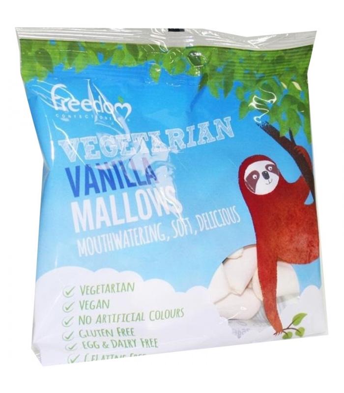 Καραμέλες Marshmallow Λευκή Βανιλια Χωρίς Γλουτένη 75γρ., Freedom Confectionery