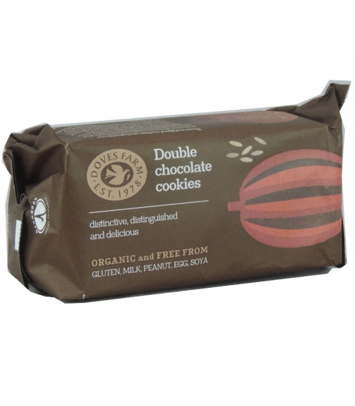 Μπισκότα Double Chocolate Cookies 180gr Χ/Γλ Bio Doves Farm