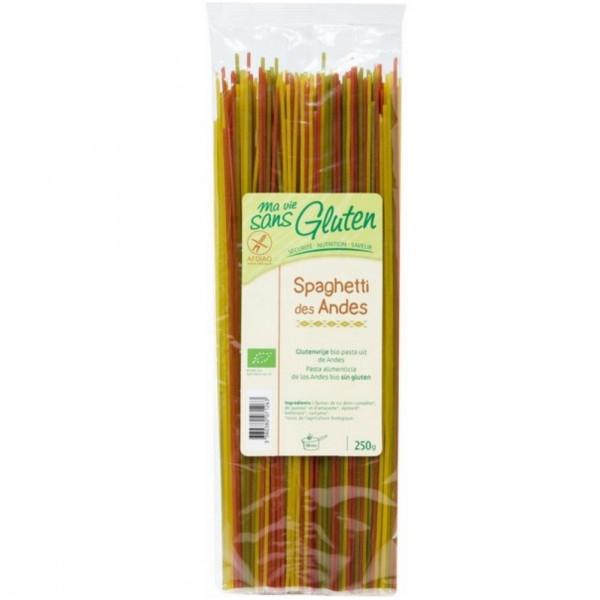 Βιολογικό Σπαγγέτι Τρίχρωμο Άνδεις Χωρίς Γλουτένη 250γρ., Ma Vie Sans Gluten