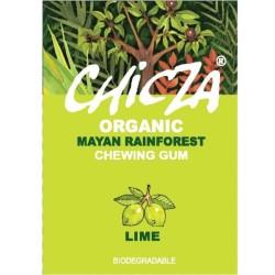 Βιολογική Τσίχλα με Γεύση Μοσχολέμονο (Lime) 30γρ., Chicza