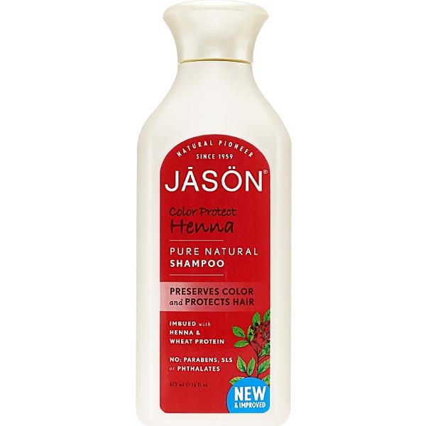 Βιολογικό Σαμπουάν για Βαμμένα Μαλλιά με Χένα 480ml, Jason