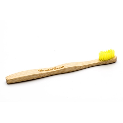 Οδοντόβουρτσα Παιδική Πολύ Μαλακή από Μπαμπού Κίτρινη, Humble Brush