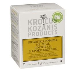 Βιολογικό Ρόφημα με Κρόκο Κοζάνης Μέλι & Πορτοκάλι 10 φακελάκια Bio 18γρ., Ελληνικό, Προϊόντα Κρόκου Κοζάνης