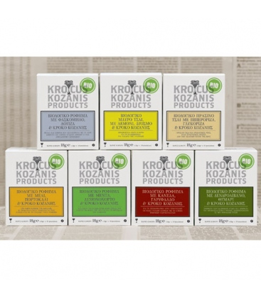 Ρόφημα με Κρόκο Κοζάνης, Πράσινο Τσάι, Πιπερόριζα & Γλυκόριζα 10φακ. Βιολογικό 18γρ