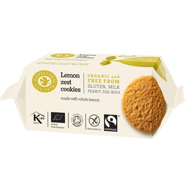 Βιολογικά Μπισκότα Cookies με Λεμόνι Bio 150γρ., Doves Farm