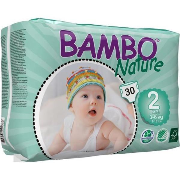 Πάνες Βρεφικές No 2 Mini 3-6kgr., Bambo Nature