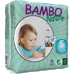 Πάνες Βρεφικές No5 Junior 12-22kgr., Bambo Nature