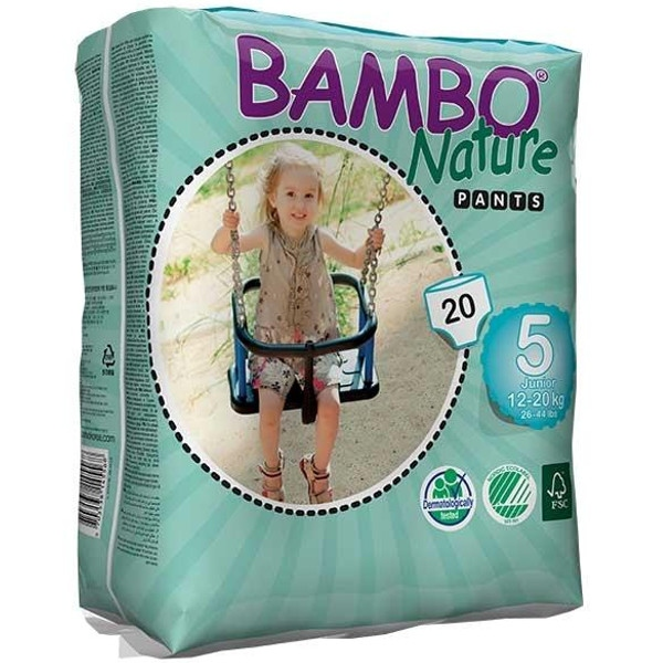 Πάνες Βρακάκι No5 Junior 12-20kgr., Bambo Nature