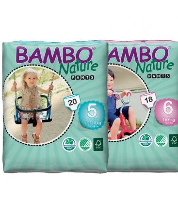 Πάνες Βρακάκι Βρεφικές No5 Junior 12-20kgr Bambo Nature
