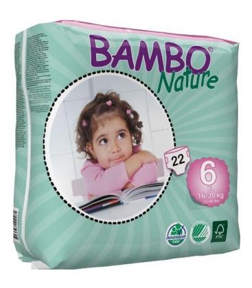 Πάνες Βρεφικές No6 XL 16-30kgr Bambo Nature