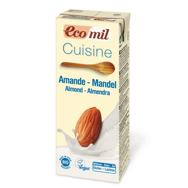 Βιολογική Κρέμα Μαγειρικής Αμυγδάλου 200ml Βιολογική, Ecomil