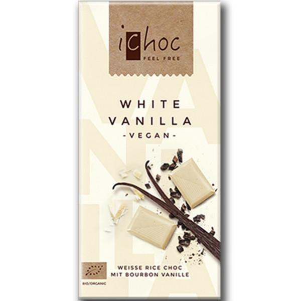 Βιολογική Σοκολάτα Λευκή Ρυζιού με Βανίλια iChoc Bio 80γρ., Vivani