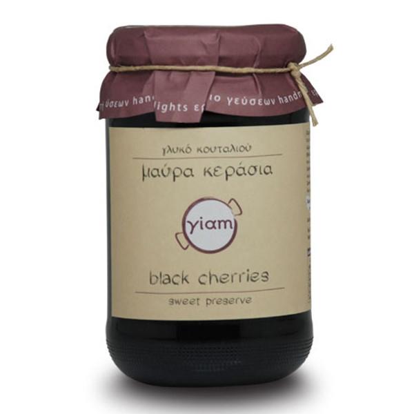 Γλυκό Κουταλιού Μαύρα Κεράσια 450γρ., Γιάμ