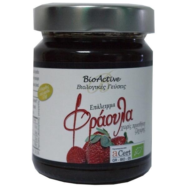 Μαρμελάδα Φράουλα Χωρίς Ζάχαρη Βιολογική 275γρ Bio-Αactive