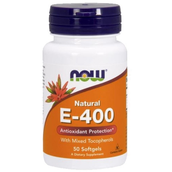 Βιταμίνη E-400 IU, Τοκοφερόλες / Unsterified - 50 Softgels, Now