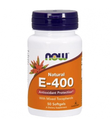 Βιταμίνη E-400 IU, Τοκοφερόλες / Unsterified - 50 Softgels