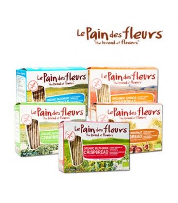Κράκερς με Κρεμμύδι Χωρίς Γλουτένη 125γρ Βιολογικά Le Pains De Fleures
