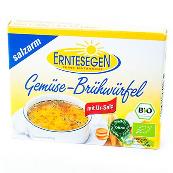 Βιολογικοί Κύβοι Ζωμού Λαχανικών με Λιγότερο Αλάτι Bio 66γρ., Erntesegen