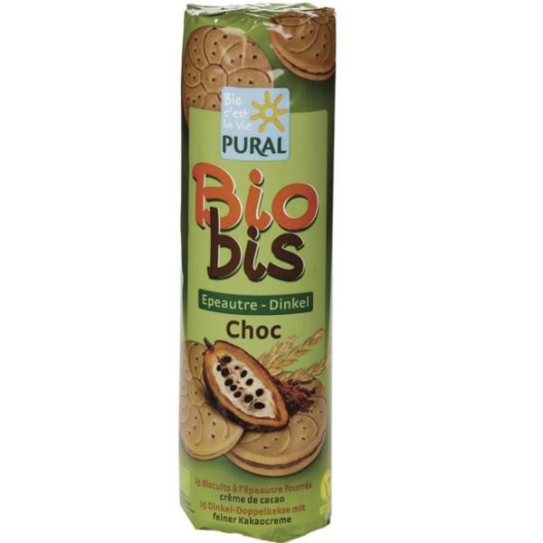 Βιολογικά Μπισκότα Ντίνκελ Γεμιστά με Σοκολάτα Bio 300γρ., Pural