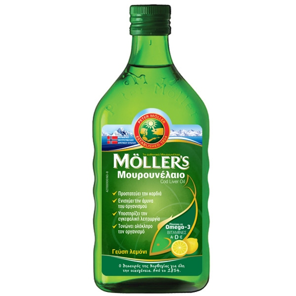 Μουρουνέλαιο Lemon 250ml, Moller's