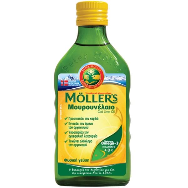 Μουρουνέλαιο Natural 250ml Moller`s