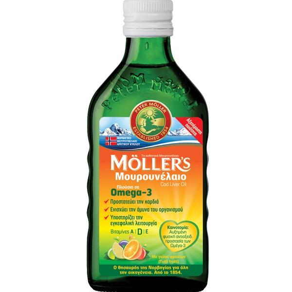 Μουρουνέλαιο με Γεύση Tutti Frutti 250ml, Moller's