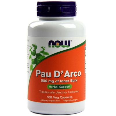 Pau D'Arco 500mg of Inner Bark 100 Caps, Now