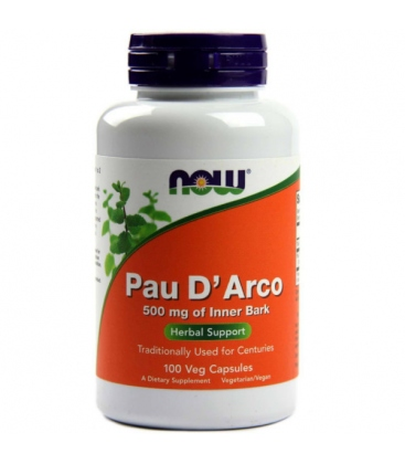 Pau D'Arco 500mg of inner Bark 100 Caps Now