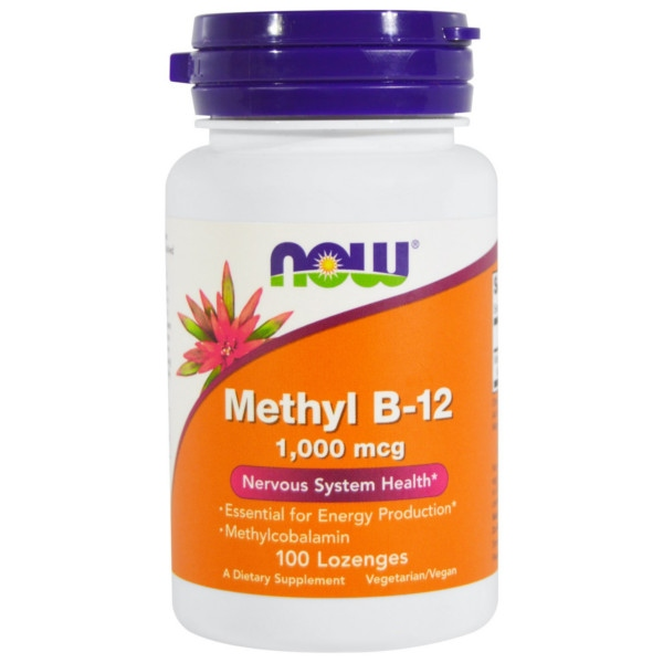 Methyl B-12 1,000 mcg Methylcobalamin - 100 Lozenges, Now