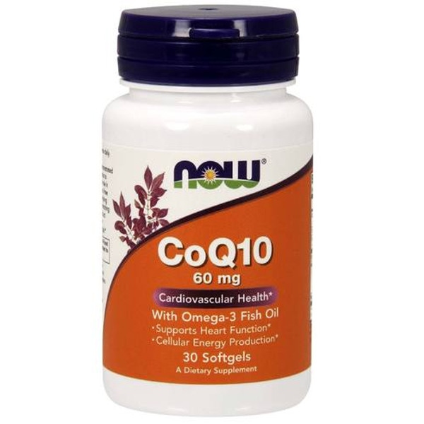 Co Q10 30 mg - 60 Vcaps, Now Foods
