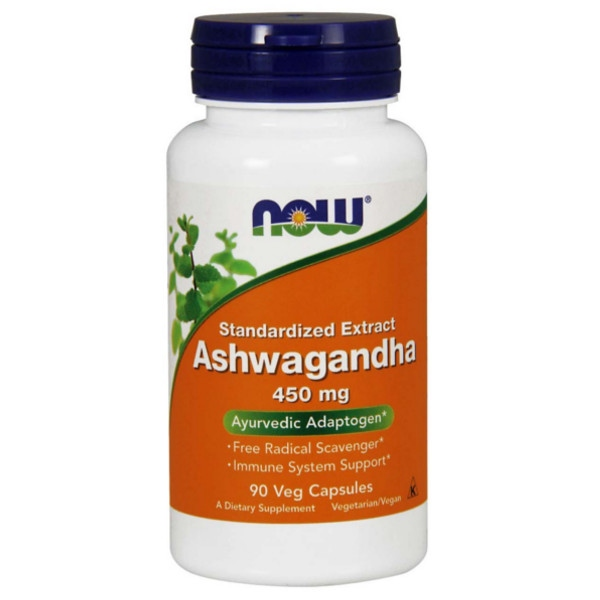 Ashwagandha 450mg - 90 Vcaps, Now