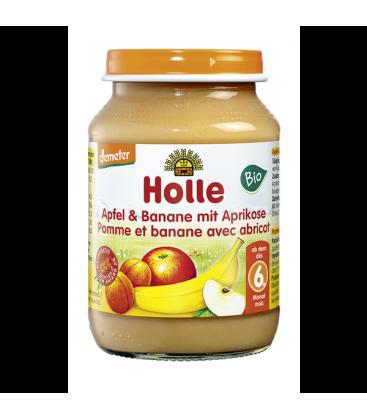 Βερύκοκο , Μήλο & Μπανάνα σε βαζάκι Βιο Holle 190gr