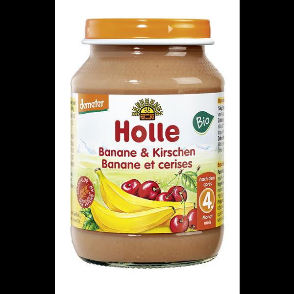 Βιολογική Μπανάνα & Κεράσι σε Βαζάκι 190γρ. Bio, Holle