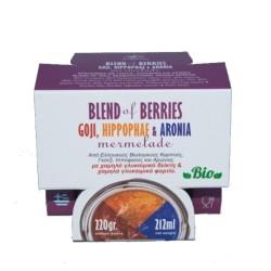 Βιολογική Μαρμελάδα Blend of Berries Bio 220γρ., Ελληνική, Πήγασος Βιολογικές Υπερτροφές