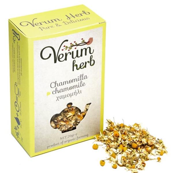 Βιολογικό Χαμομήλι Βιολογικής Καλλιέργειας 20γρ., Ελληνικό, Verum Herb