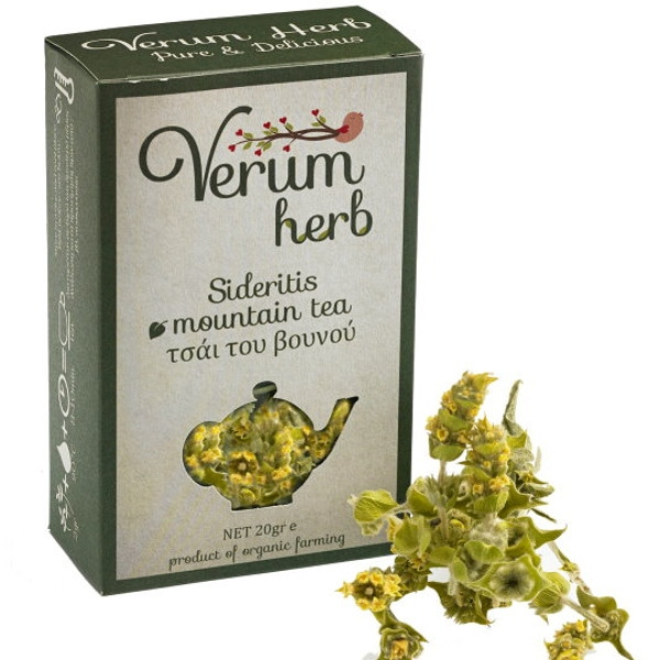 Βιολογικό Τσάι του Βουνού Βιολογικής Καλλιέργειας 20γρ., Ελληνικό, Verum Herb