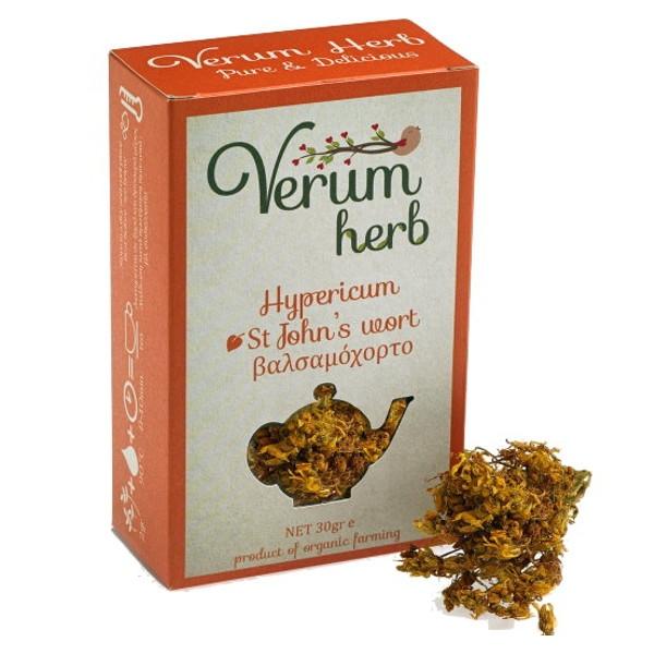 Βιολογικό Βαλσαμόχορτο ή Υπερικό Βιολογικής Καλλιέργειας 20γρ., Ελληνικό, Verum Herb