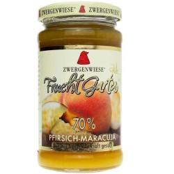 Βιολογική Μαρμελάδα Ροδάκινο & Φρούτα του Πάθους με Σιρόπι Αγαύης 225γρ., Zwergenwiese