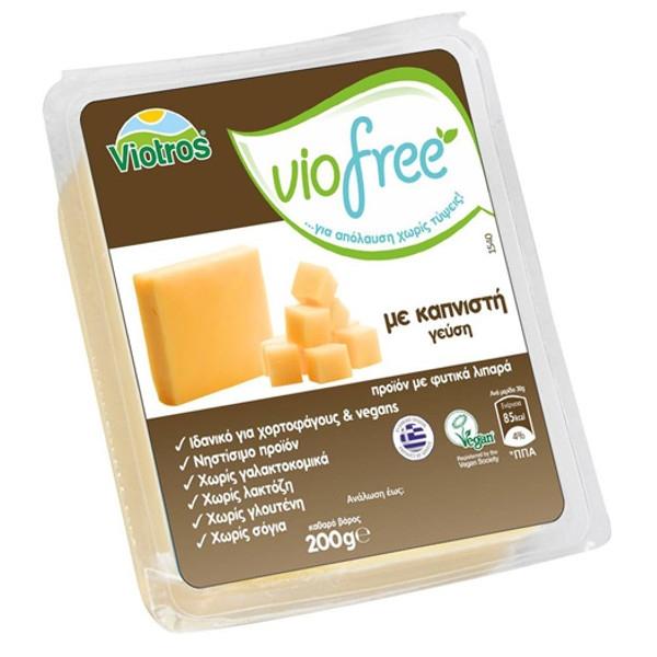 Φυτικό Τυρί Γεύση Καπνιστή Viofree 200γρ., Ελληνικό, Viotros