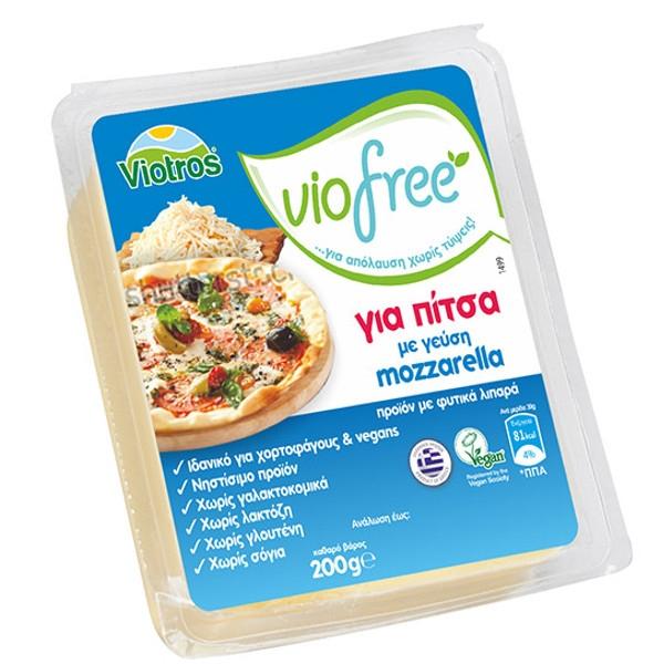 Φυτικό Τυρί για Πίτσα Γεύση Mozzarela Viofree 200γρ., Ελληνικό, Viotros