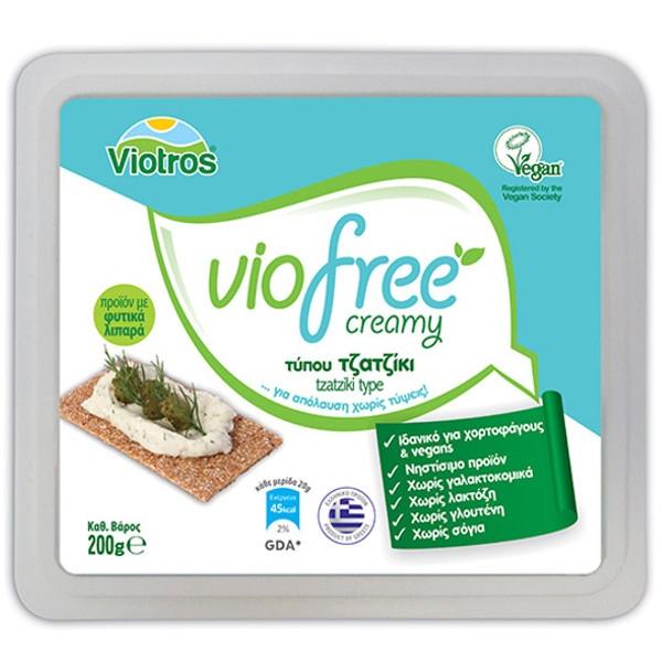 Φυτικό Τυρί Κρέμα Με Γεύση Τζατζίκι 200gr Creamy Viofree