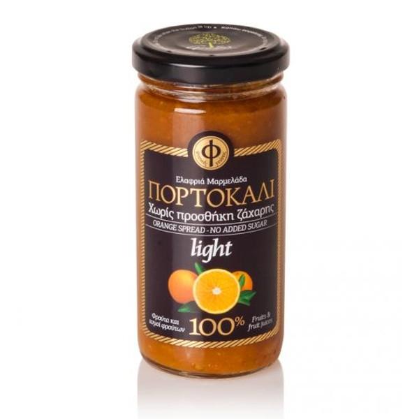 Ελαφριά Μαρμελάδα Πορτοκάλι 100% φρούτο Χωρίς Ζάχαρη 270γρ., Ελληνική, Γεωδή
