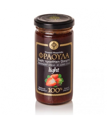 Ελαφριά Μαρμελάδα Φράουλα - 100% φρούτο - Χωρίς Ζάχαρη 270γρ ΓΕΩΔΗ