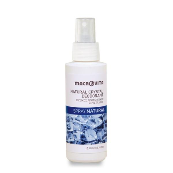 Φυσικός Αποσμητικός Κρύσταλλος Spray Natural 100ml, Ελληνικός, Macrovita