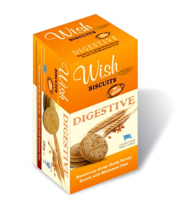 Mπισκότα Digestive 220gr. Wish