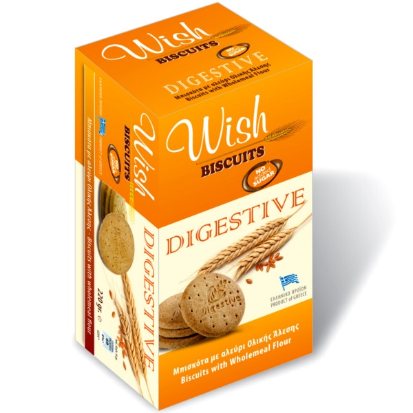 Mπισκότα Digestive 220γρ., Ελληνικά, Wish