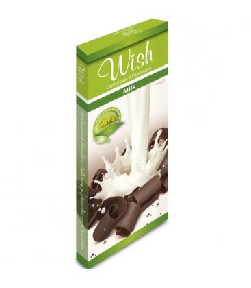 Σοκολάτα Γάλακτος Με Στέβια 50γρ. Wish