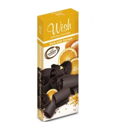 Σοκολάτα Υγείας Πορτοκάλι Χωρίς Ζάχαρη 75γρ. Wish